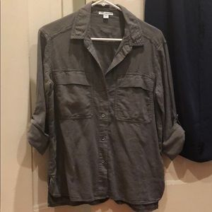 James Perse button up in khaki green 🤩
